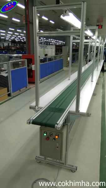 Băng tải sản xuất hộp điện thoại
